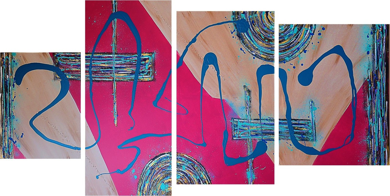 The Beattextured paint & acrylic on canvas30x40in, 72x36in, 60x36in & 48x36in2010SOLD