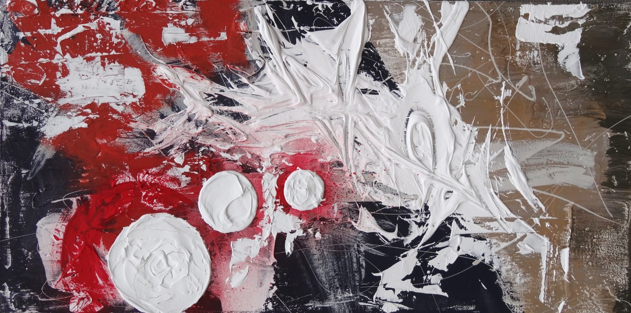 The Seed III- Redtextured paint & acrylic on canvas15x30in2015$335