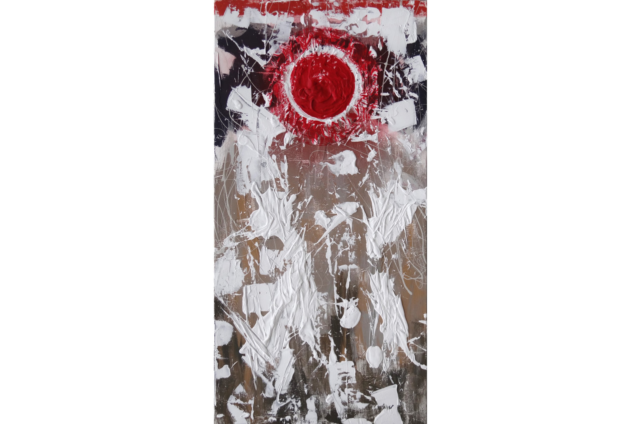 The Seed I- Redtextured paint & acrylic on canvas48x24in2015$8,650
